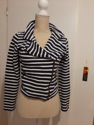 H&M Short Jacket natural white-dark blue