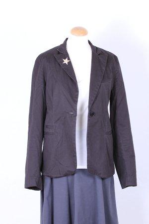 Jacke im Blazerstil in schwarz mit Engelflügel - Applikation