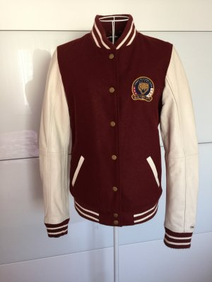 Tommy Hilfiger Giacca college bianco sporco-bordeaux
