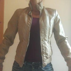 Jacke im Leder-Look