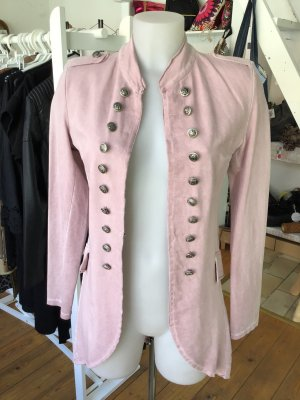 Giacca militare rosa antico Tessuto misto