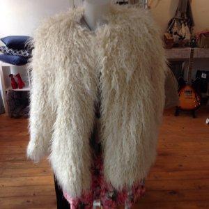 Jacke in Felloptik wollweiss Gr. M