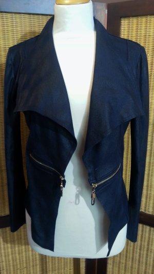 #Jacke in Lederoptik von #Jus d'Orange Gr.36, marineblau