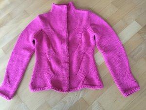 Jacke in schönem Pink und weicher Wolle von Nice Connection in Größe 36