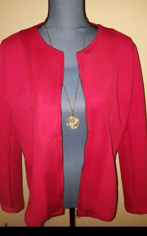 Laura Torelli Oversized Jacket red