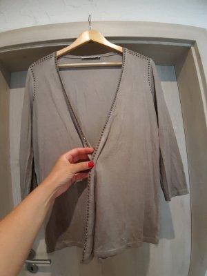 Monari Chaqueta de tela de sudadera gris claro-beige claro