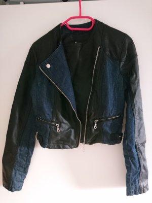 Atmosphere Denim Jacket black-blue imitation leather