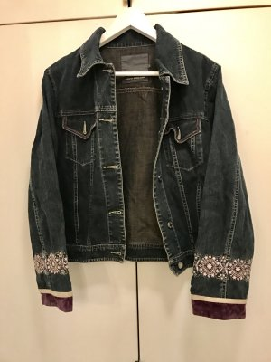 Jacke Jeansjacke Frühlingsjacke mit Muster langärmlig wie neu Tom Tailor