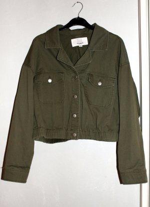 Pull & Bear Veste en jean gris vert