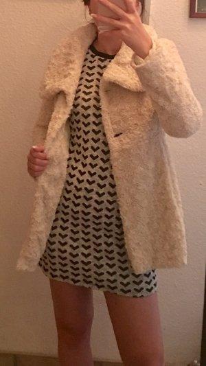Zara Trafaluc Fake Fur Jacket natural white