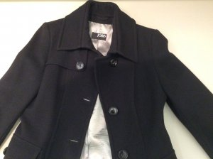Jobis Heavy Pea Coat black new wool