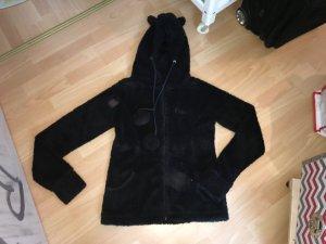 Giacca di pelliccia antracite-nero