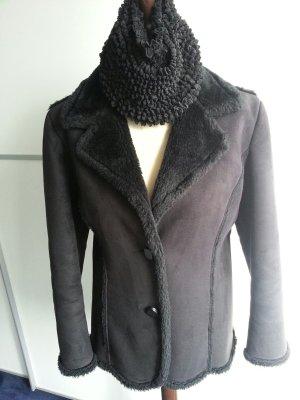 Bontjack zwart Polyester