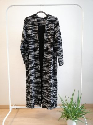 Jacke lang schwarz/weiss
