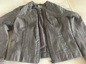 Jacke Leder Imitat ONLY Gr. 38 - 40 M L SUPER ZUSTAND taupe grau braun