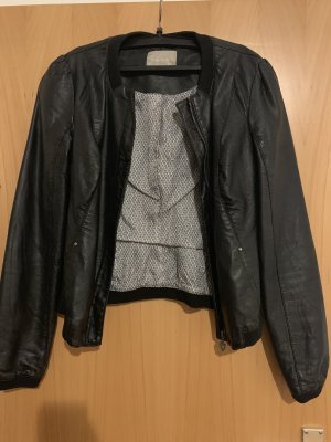 Jacke, lederlook