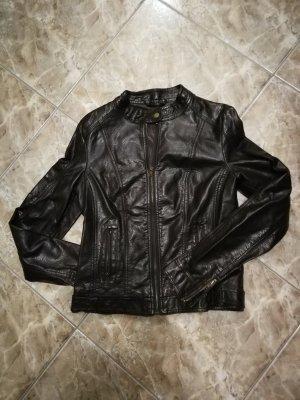 Pimkie Biker Jacket dark brown viscose