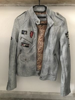 Biker Jacket light grey-silver-colored