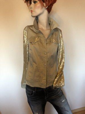 Jacke leicht mit goldenen Pailletten