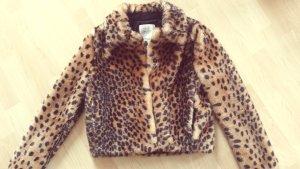 Jacke Leopardenplüsch Gr. 36