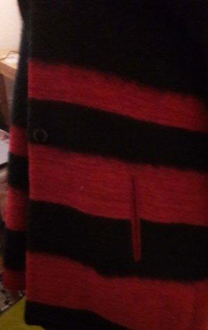 Desigual Abrigo corto negro-rojo