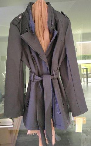 Jacke Mantel Michael Kors Übergangsjacke Frühling NEU leichte Jacke grau Leder