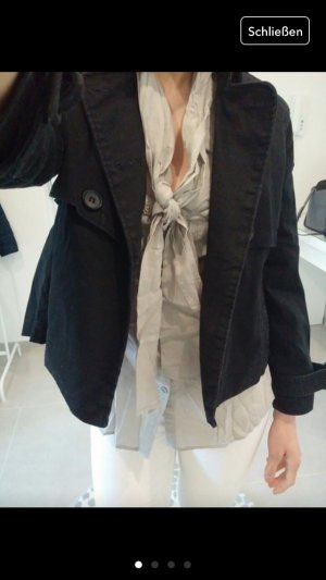 Jacke Mantel Parka schwarz s m 34 36 38 Blogger cape jeansjacke Strickjacke