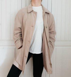 Jacke Mantel True Vintage Oversize braun beige creme Parka 38 S M Hemd Bluse Pulli Pullover