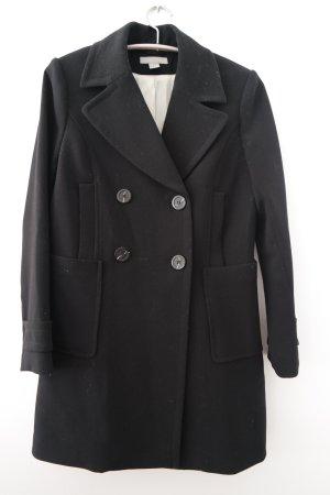 Jacke, Mantel, Zweireiher, schwarz mit Knöpfen