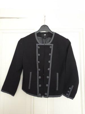 Jacke mit 3/4 Arm schwarz-grau