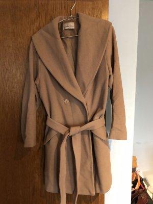 Collection Long Jacket camel mixture fibre