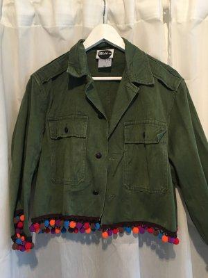 Jacke mit Bommeln in Grün ASOS