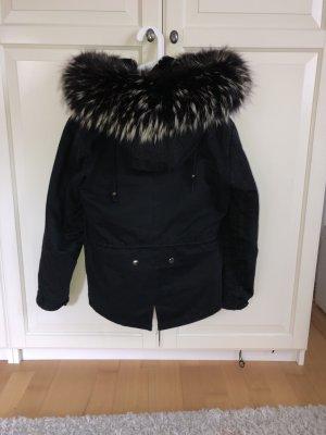 Fur Jacket black-white
