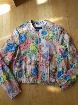 Jacke mit floralem buntem Muster