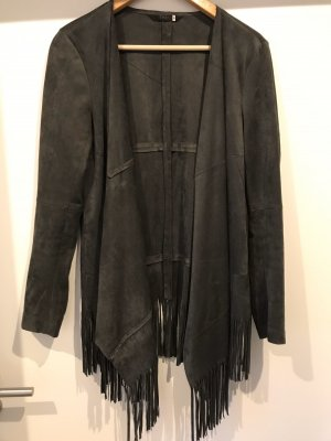 Only Leather Blazer anthracite