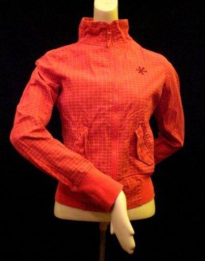 Jacke mit hohem Kragen, rot-kariert von Sublevel