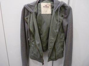 Hollister Hoody green grey-silver-colored mixture fibre