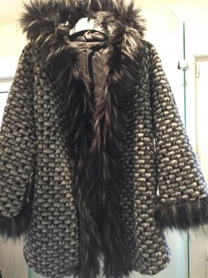 Oversized Jacket multicolored fake fur