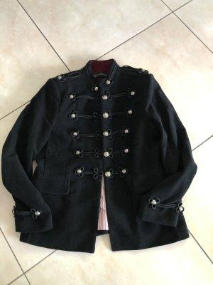Jacke mit Knöpfen im Uniform Look aus Samt