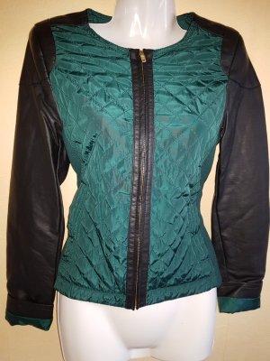 Jacke mit Kunstledereinsatz an Armen und Schulter Neu mit Etikett