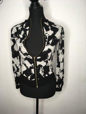 H&M Short Jacket white-black