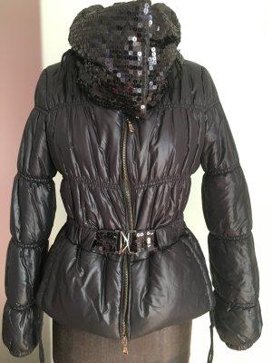 Jacke mit Pailletten Gr 36 S schwarz