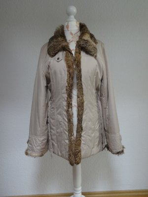 Jacke mit Pelzkragen, leichte Daunenjacke