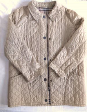 Burberry Quilted Jacket beige polyester