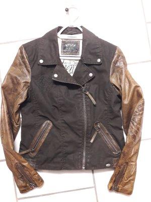 Jacke mit Stoff und Leder von Soccx