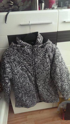 Veste matelassée blanc-noir