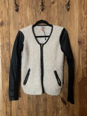 Only Giacca in ecopelle nero-bianco sporco