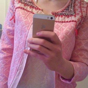 Jacke pink Verziehrung