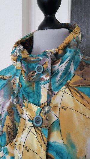 Windbreaker yellow-turquoise