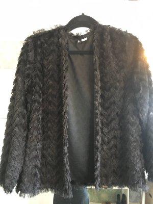 H&M Fake Fur Jacket black